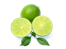 Fresh lime isolated on white background Royalty Free Stock Photography