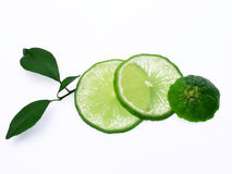 Fresh lime isolated on white background Royalty Free Stock Photo