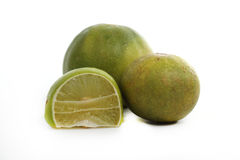 A fresh lime. Isolated on a white background Royalty Free Stock Photo