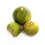A fresh lime. Isolated on a white background Stock Image