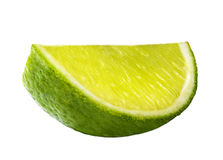 Fresh lime isolated on white Royalty Free Stock Photography