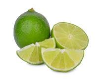 Fresh lime isolated on white. Background Royalty Free Stock Photo