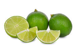 Fresh lime isolated on white. Background Royalty Free Stock Images