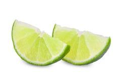 Fresh lime isolated on white. Background Royalty Free Stock Photos