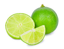 Fresh lime isolated on white. Background Royalty Free Stock Photography
