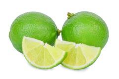 Fresh lime isolated on white. Background Stock Photos