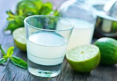 Fresh lime juice Stock Photos
