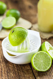 Fresh Lime Juice on wooden background & x28;selective focus& x29; Stock Photography