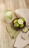 Fresh lime juice Stock Images