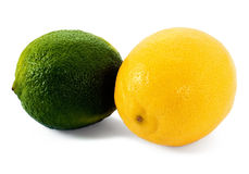 Fresh lime and lemon Royalty Free Stock Images