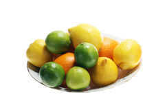Fresh lime and lemon fruit Stock Images