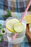 Fresh lime in lemonade drink Stock Photo