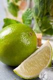 Fresh lime for making mojitos Royalty Free Stock Images