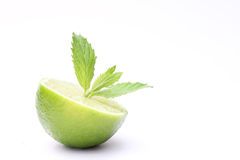 Fresh lime with mint Royalty Free Stock Images