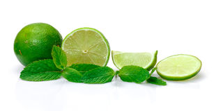 Fresh Lime and Mint royalty free stock image