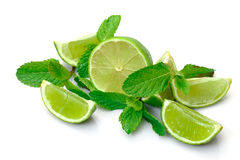 Fresh Lime and Mint Stock Photos
