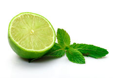 Fresh Lime and Mint Royalty Free Stock Photography