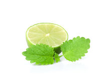 Fresh lime with mint leaf Stock Photo