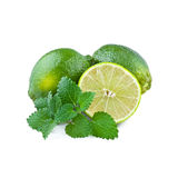 Fresh Lime with Mint Leaf Royalty Free Stock Image
