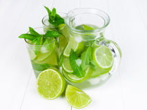 Fresh with lime and mint Royalty Free Stock Photos