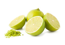 Fresh lime and peel Stock Photo