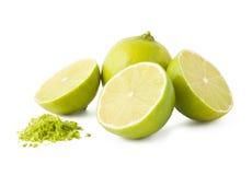 Fresh lime and peel Stock Photo