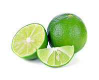 Fresh lime and slice Stock Images