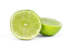 Fresh lime and slice, Isolated on white background Stock Photography