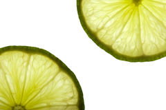 Fresh lime slices Stock Image