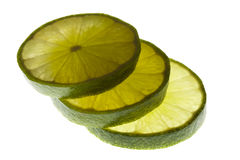 Fresh lime slices Stock Photo