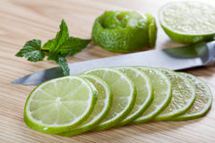 Fresh lime slices Royalty Free Stock Photography