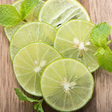 Fresh lime slices. Royalty Free Stock Image