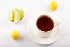 Fresh Lime tea served in white cup Royalty Free Stock Image