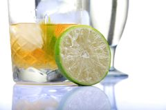 Fresh lime and whiskey Royalty Free Stock Photos