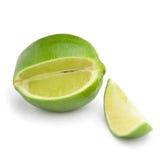 Fresh lime on white background. Fresh green lime isolated on white background Royalty Free Stock Image
