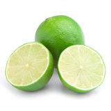 Fresh lime on white background Royalty Free Stock Image
