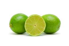Fresh lime on a white background closeup Stock Images