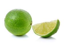 Fresh lime on white background Royalty Free Stock Images