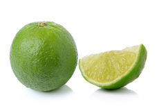 Fresh lime on white background Royalty Free Stock Photo