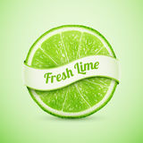 Fresh Lime With Ribbon Royalty Free Stock Image