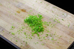Fresh lime zest Royalty Free Stock Images