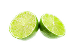 Fresh limes. Isolated on a white background Stock Photo