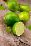 Fresh limes Stock Photo