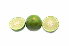 Fresh limes isolated on a white background Stock Photos