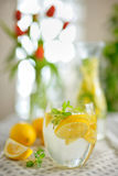 Fresh limes and lemonade Royalty Free Stock Photos