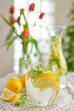 Fresh limes and lemonade Royalty Free Stock Photography