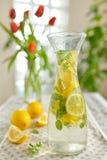 Fresh limes and lemonade Stock Photo