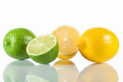 Fresh limes and lemons Stock Photos