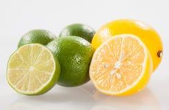 Fresh limes and lemons Royalty Free Stock Photo