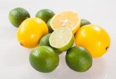 Fresh limes and lemons Stock Photography